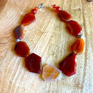 """Red Agate With 925 Hardware 🌿 20"""""""